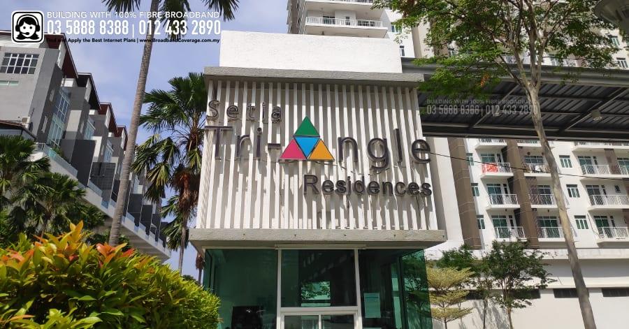 Setia Triangle Residences Condominium, TIME, Maxis, Unifi, Streamyx