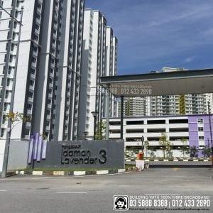 Idaman Lavender 3 Apartment, TIME, Maxis, Unifi